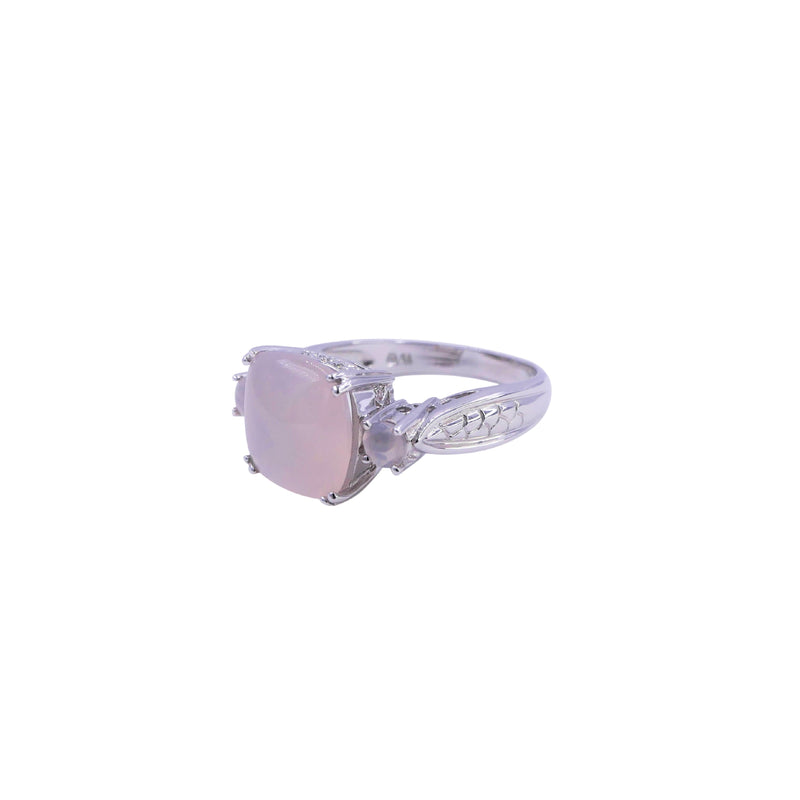 Diamond Chalcedony Ring