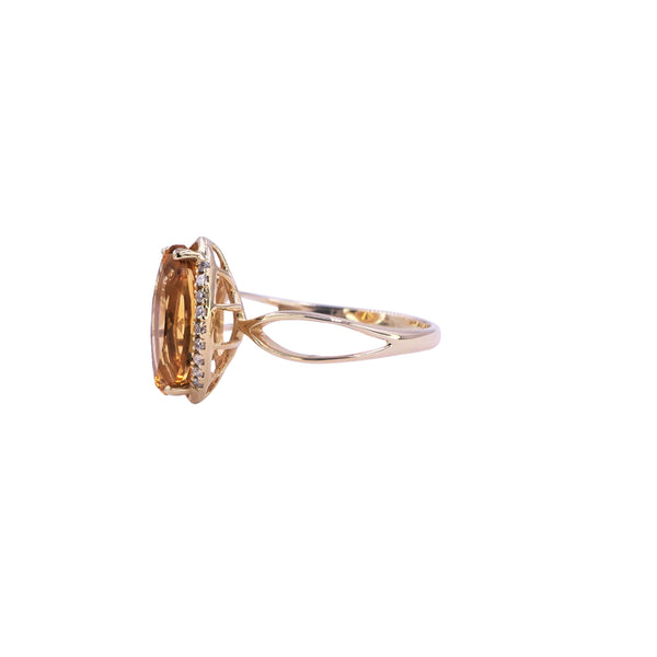 Diamond & Citrine Ring