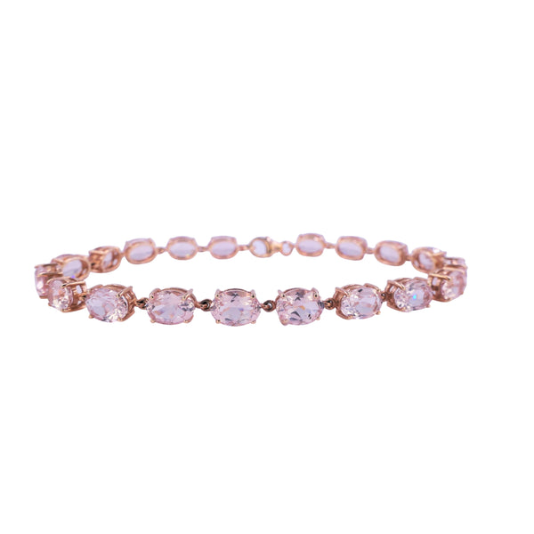 Rose Gold Morganite Bracelet