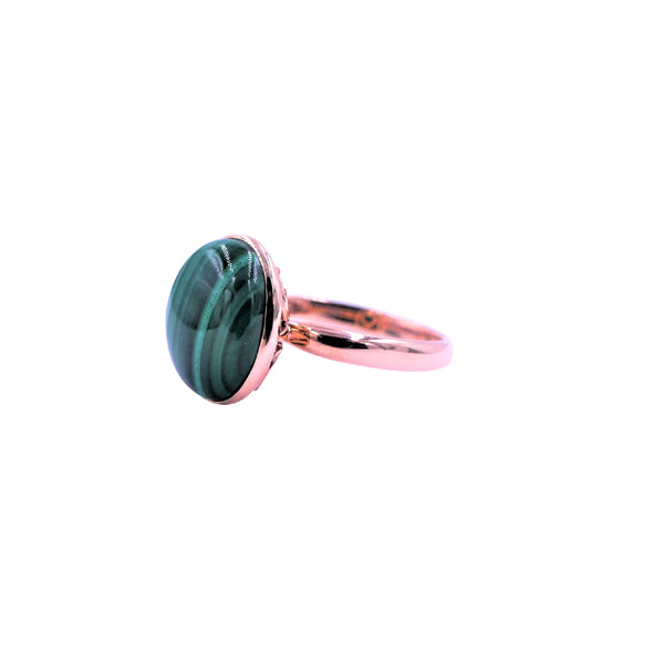 Rose Gold Malachite Ring
