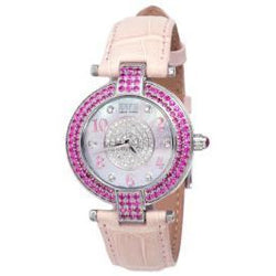 Effy 5th Avenue Diamond & Pink Sapphire Mother-of-Pearl Dial Ladies Watch