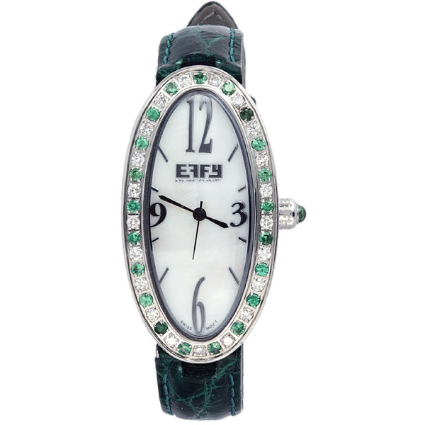 Effy Liberty Diamond & Tsavorite Mother-of-Pearl Dial Ladies Watch