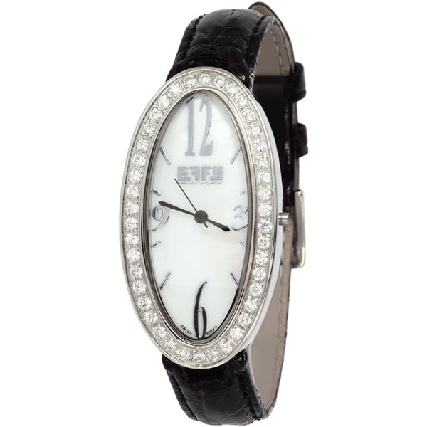 Effy Liberty Diamond 1.58 Tdw. Mother-of-Pearl Dial Unisex Watch