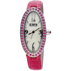 Effy Liberty 1.90 ct Pink Sapphire Mother-of-Pearl Dial Ladies Watch