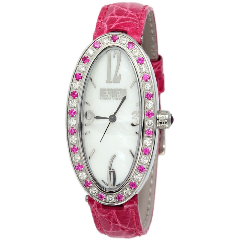 Effy Liberty Diamond & Pink Sapphire Mother-of-Pearl Dial Ladies Watch