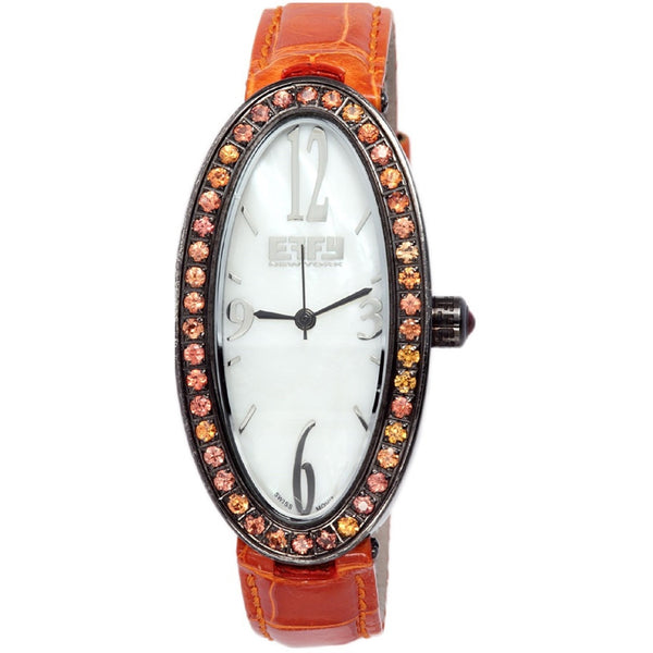 Effy Liberty 1.91 ct Orange Sapphire Mother-of-Pearl Dial Unisex Watch