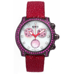 Effy Central Park Diamond & Pink Sapphire Mother-of-Pearl Dial Ladies Watch