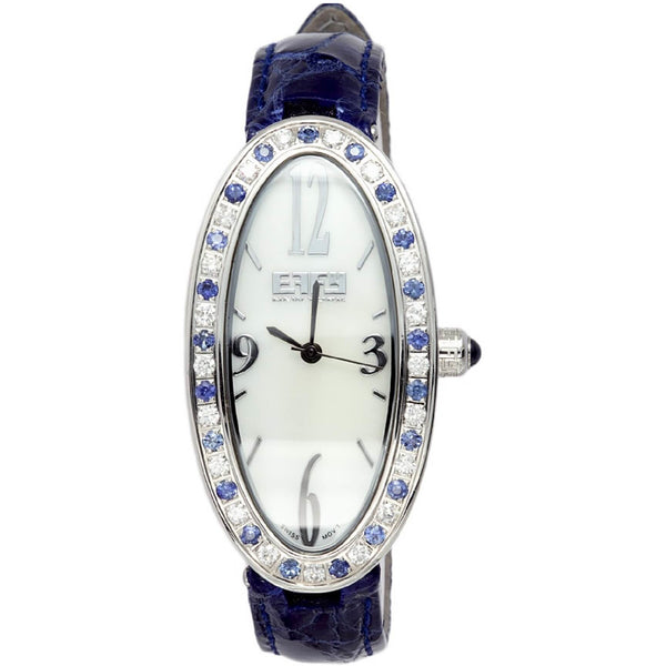 Effy Liberty Diamond & Blue Sapphire Mother-of-Pearl Dial Ladies Watch