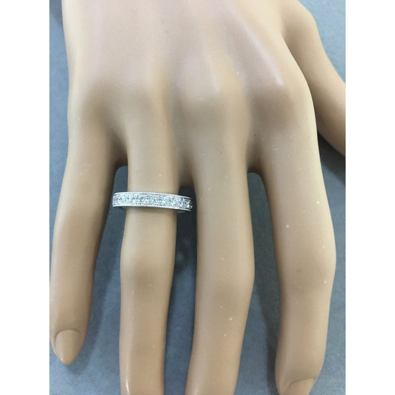 Channel Set 0.45 ct Diamonds Wedding Band 14K Ring