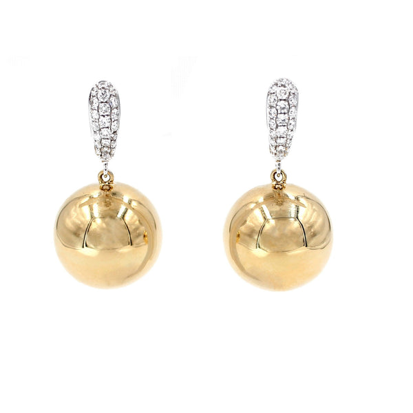 Golden Globes Spheres Earrings and Diamonds