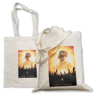 "Natural Cotton Fiber Tote Bag - 14"" x 16"""