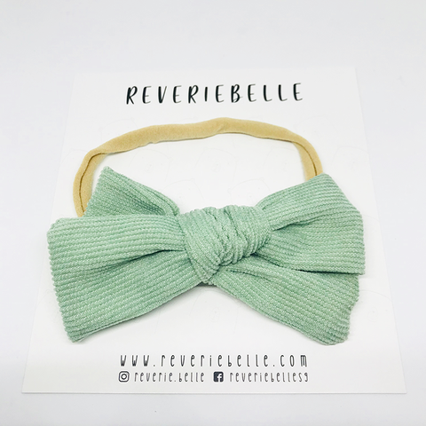 AUBREY BOW HEADBAND - MINT