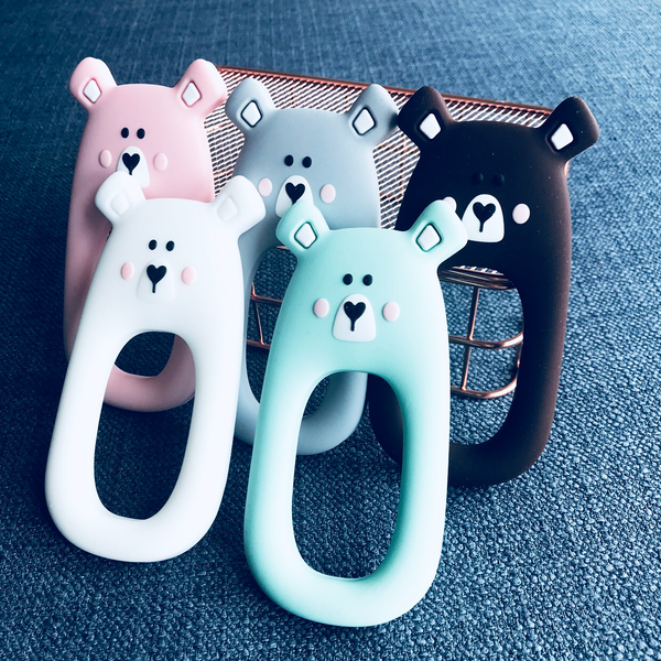 BEAR TEETHER - GREY