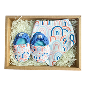 BIB x MINI SHOES GIFT SET // DENIM RAINBOW