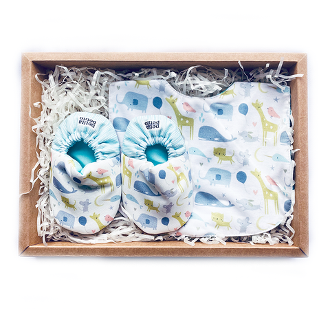 BIB x MINI SHOES GIFT SET - PETIT ZOO
