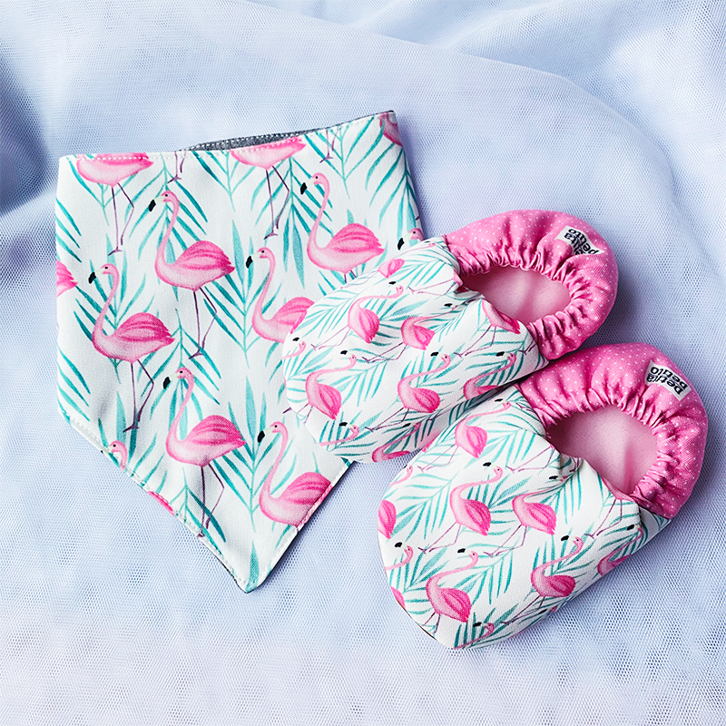 BIB x MINI SHOES GIFT SET // PINK FLAMINGO