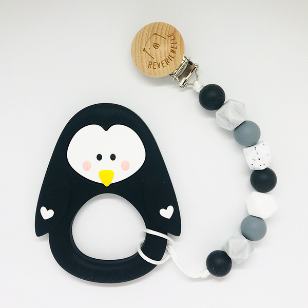PENGUIN TEETHER SET - BLACK