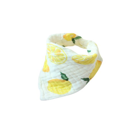 MUSLIN BIB - CITRUS LEMON