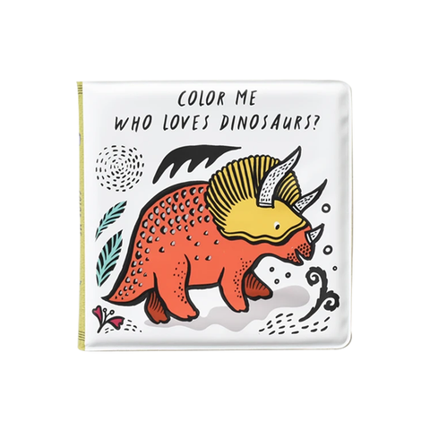 BATH BOOK // COLOUR ME: WHO LOVES DINOSAURS?