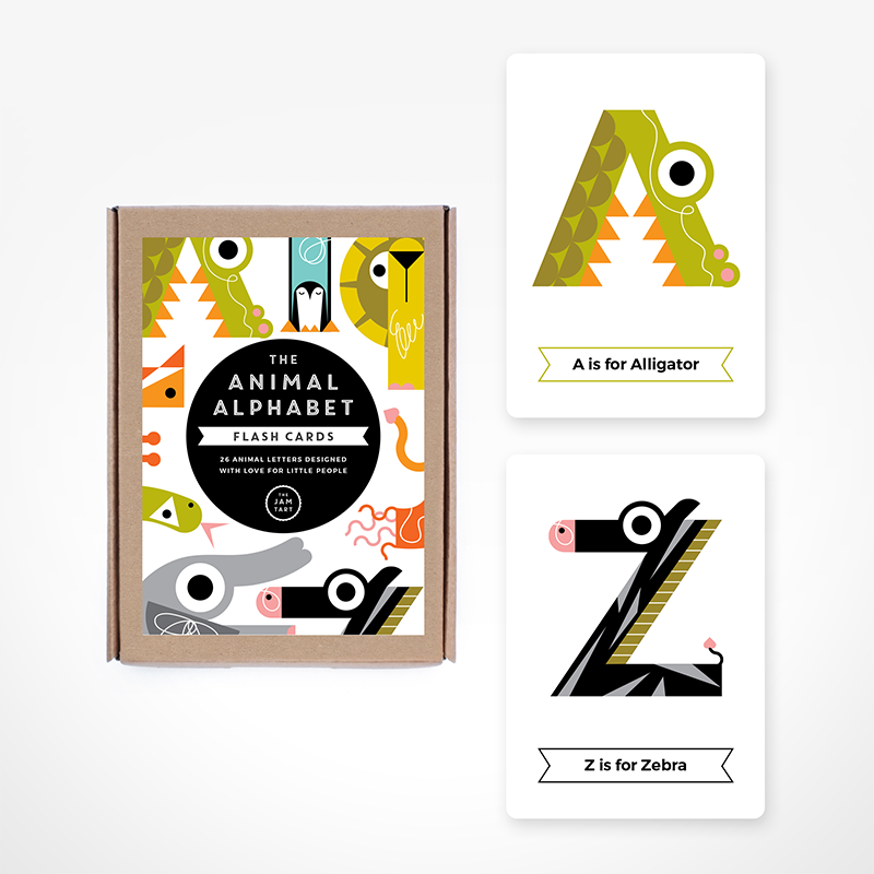 ALPHABET FLASH CARDS // COLOURS