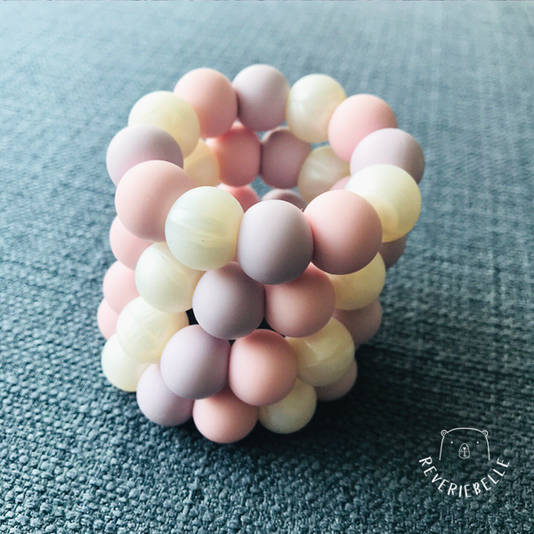 MINI TEETHING RING - COTTON CANDY