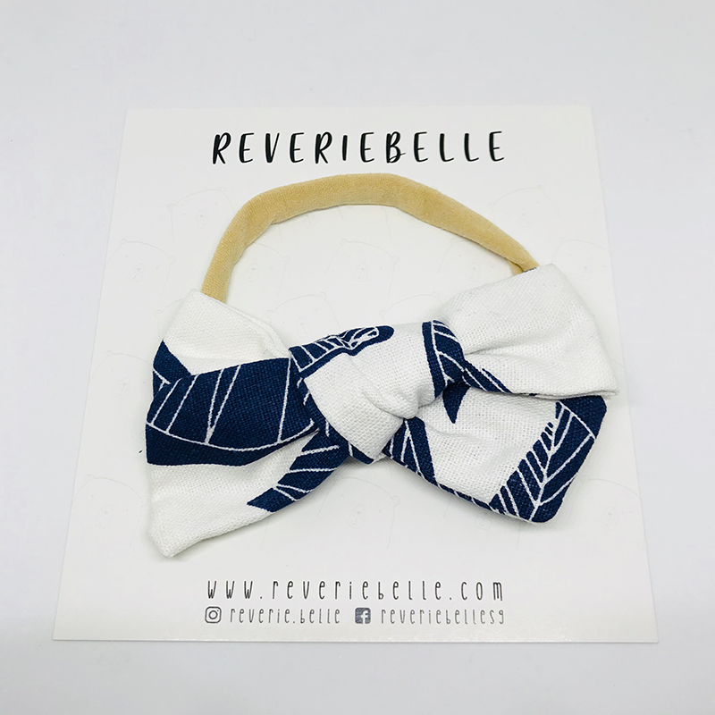 FEUILLES BOW HEADBAND - NIGHT