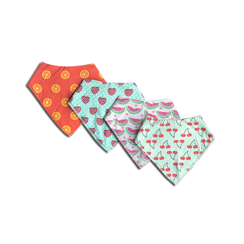 BANDANA BIB BUNDLE // FRUITS