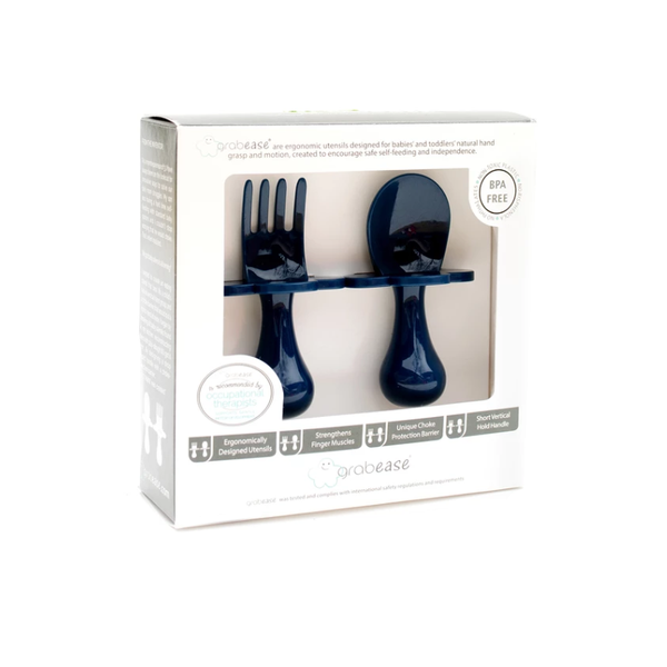 Grabease Spoon and Fork - Navy