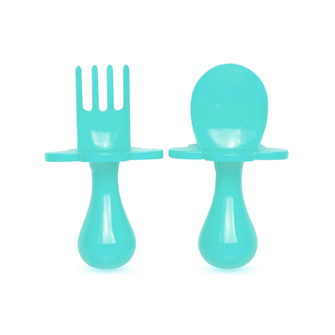 Grabease Spoon and Fork - Teal