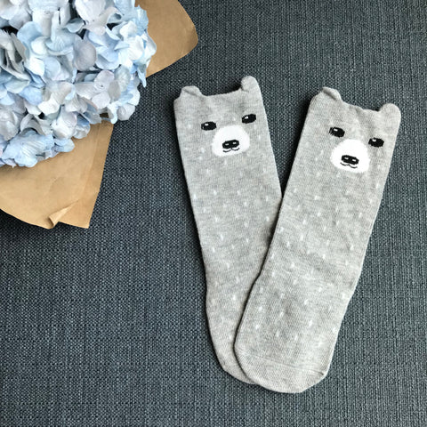 KNEE-LENGTH SOCKS - GREY BEARIE