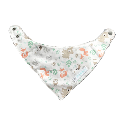 BANDANA BIB // LITTLE FOREST ANIMALS