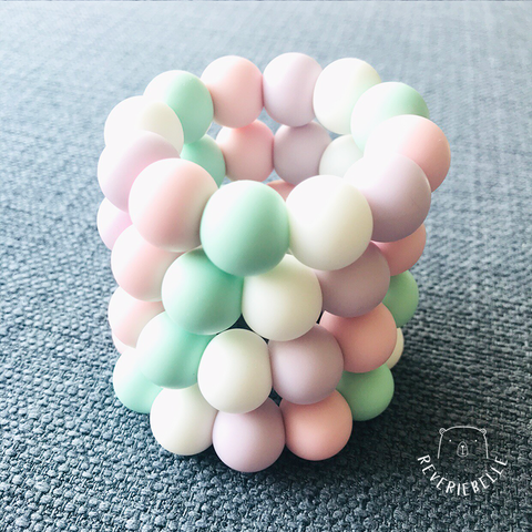 MINI TEETHING RING - MARSHMALLOW