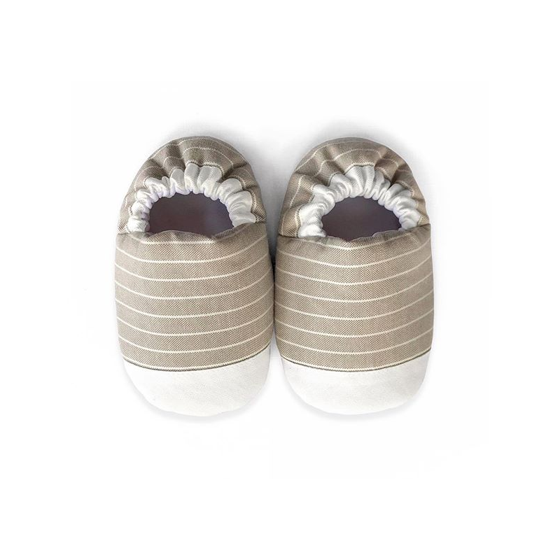 MINI SHOES // MISTY STRIPES (BEIGE)