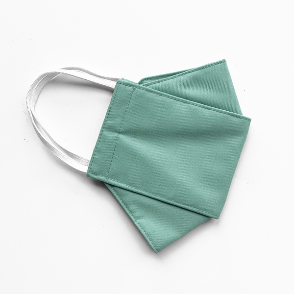 3-PLY MASK // ORIGAMI IN EMERALD GREEN