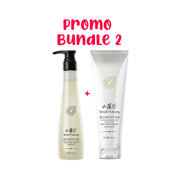 SMALL PUKONG BUNDLE 2 // 5-IN-1 SHAMPOO + REVITALISING CONDITIONER