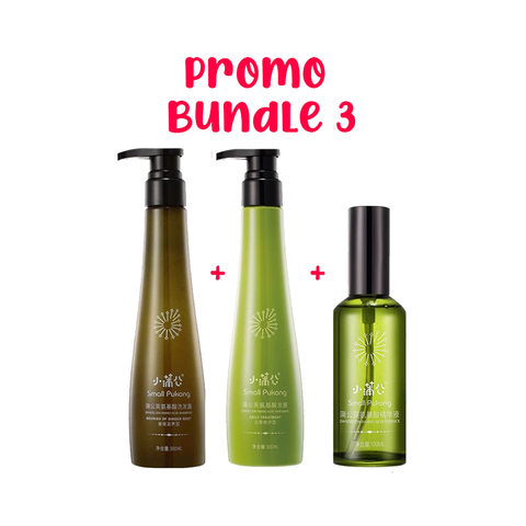 SMALL PUKONG BUNDLE 3 // GINGER ROOT SHAMPOO + DAILY TREATMENT HAIR MASK + HAIR ESSENCE OIL