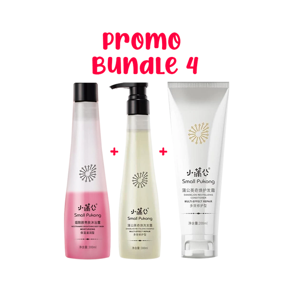 SMALL PUKONG BUNDLE 4 // 5-IN-1 SHAMPOO + 2-IN-1 BODY WASH + REVITALISING CONDITIONER