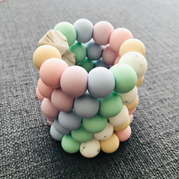 TEETHING RING // PASTEL RAINBOW (MINI)