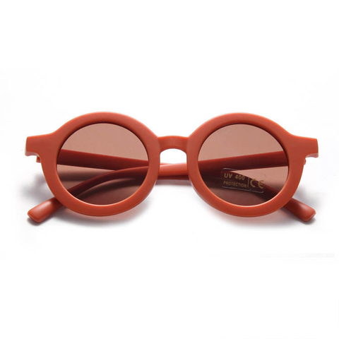 KIDS SUNNIES // ROUND - RUST