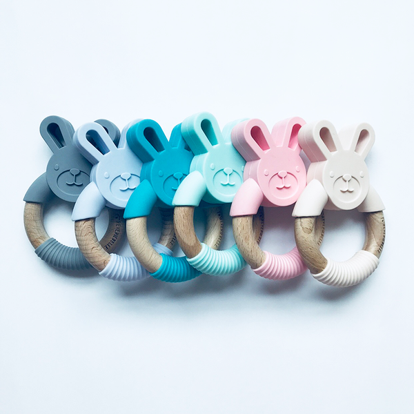 BUNNY TEETHER - TEAL