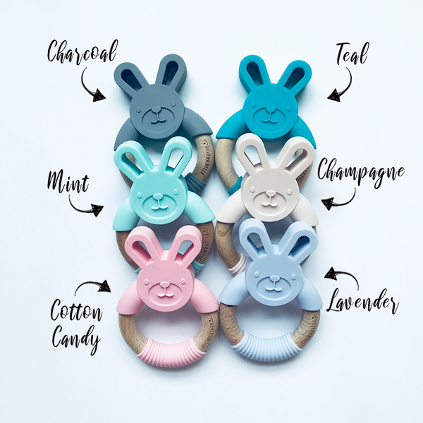 BUNNY TEETHER // TEAL