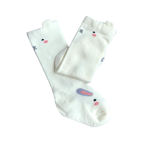 KNEE-LENGTH SOCKS - SNOW HOPPING BUNNY