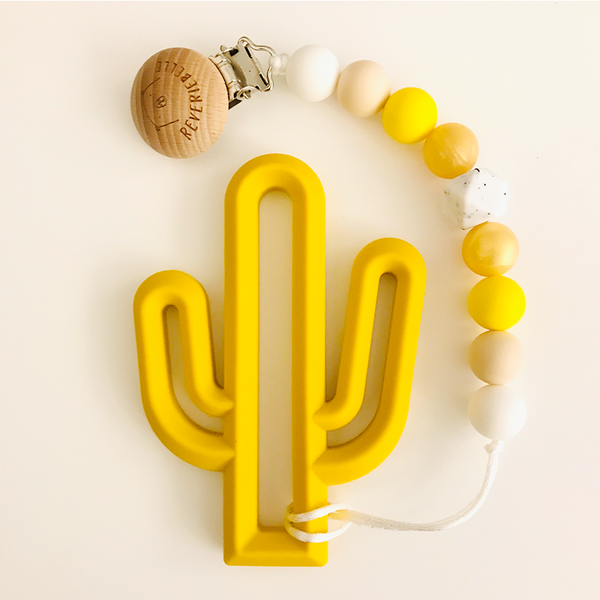 Teething Clip Set - Cactus (Yellow)