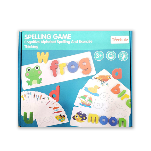 SPELLING GAME // WOODEN ALPHABET + CARDS