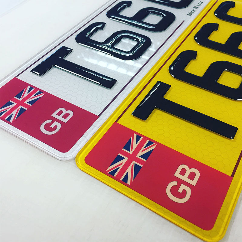 GB Gel Domed Number plates
