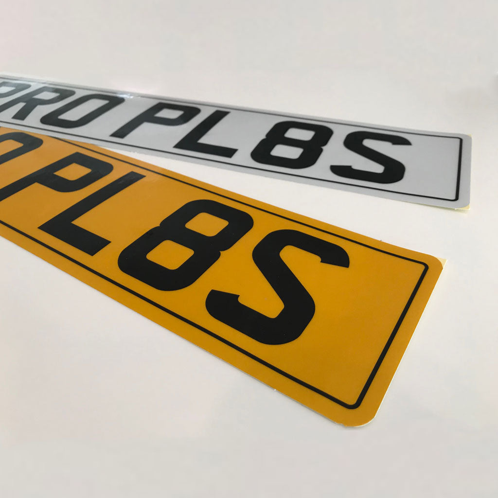 2d89e8c5d44 Stick On Number Plates