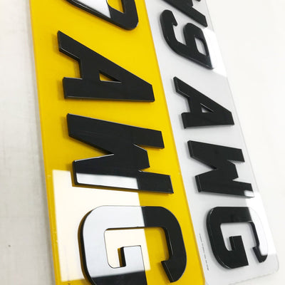 16inch 4d number plates