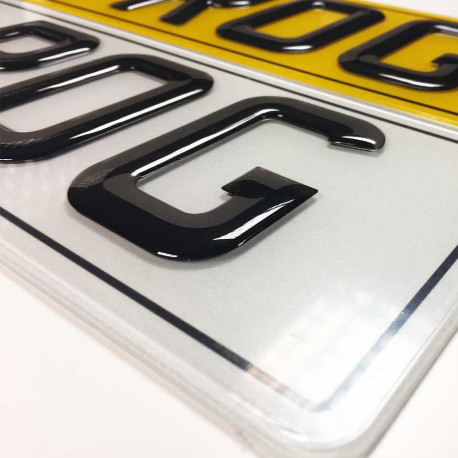Custom Gel Number Plates