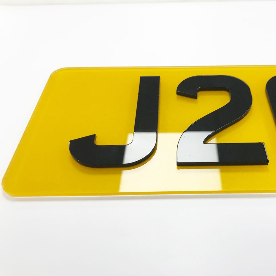 4D Number Plates - 406mm x 111mm (16in x 4.4in)