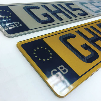 Black GB Tinted Number Plates